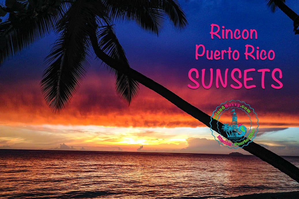 Sunsets in Rincón, Puerto Rico.